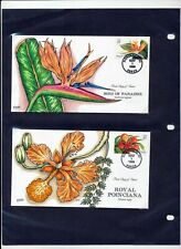 USA 1999 FLOWERS Hand Painted Collins FDC Covers x 5 (ZA 185