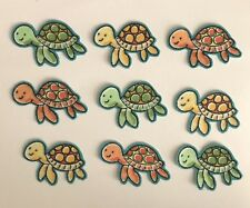 9 Baby Turtles - Iron On Fabric Appliques