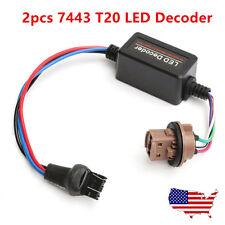2PCS 7443 7444 T20 LED Decoder No Flash Warning Load Resistor Switchback Lights