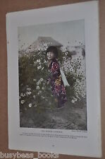 1914 CHILDREN IN JAPAN magazine article, customs, sociology, color photos