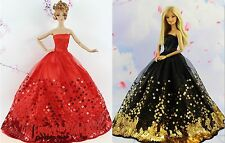 2* Collection Royalty Princess Black and Red Dress/Clothes For Barbie Doll S23F