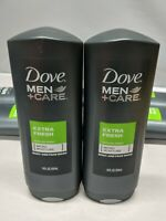 Dove Men +Care Extra Fresh Cooling Agent Body And Face Wash 18 oz (2-Pack)