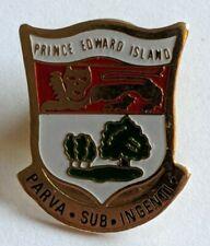 Vintage PEI Prince Edward Island Lapel Pin Coat of Arms Crest Logo Souvenir