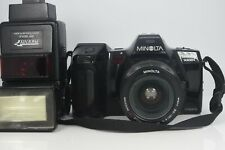 Minolta Maxxum 7000i 35mm SLR film camera w/35-80 4-5.6 AF lens flash works read