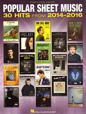 Popular Sheet Music 30 Hits from 2014-2016 Songbook aktuelle Pop Songs Noten Kla