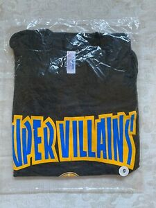 "NBA Warriors Track Shirt ""Super Villains"" Black Men's Small NEW in package"