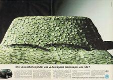 Publicité Advertising 1991 (Double Page)  VOLKSWAGEN GOLF BOSTON   VW