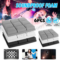 6pcs Studio Acoustic Foam Panel Tile Sound Absorption Proofing Sponge KTV