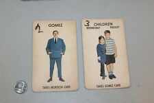 Vintage Set of 2 1965 Addams Family Game Playing Cards Gomez Children Wednesday