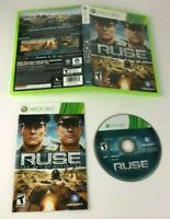 RUSE: THE ART OF DECEPTION FOR XBOX 360 COMPLETE W/ MANUAL