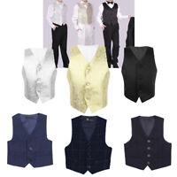 Kids Boys Gentleman Suit Vest Waistcoat Formal Tuxedo Wedding Formal Party Baby