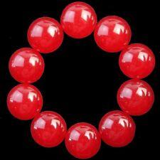 10Pcs Red Jade Round CAB CABOCHON 18x6mm L781