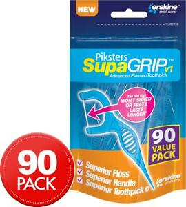 Piksters 90-Pack SupaGRIP Toothpick and Flosser Sticks