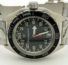 RUSSIAN VOSTOK  KOMANDIRSKIE 650541 MILITARY AUTO WRIST WATCH  NEW