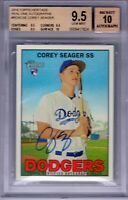 "2016 Topps Heritage Real One Auto. ""Corey Seager"" RC ""7 HRs"" BGS 9.5/10 ""TRUE++"""