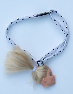 Blonde Doll Head Spotty Renewal Upcycled Necklace Choker Pastel Goth Collar