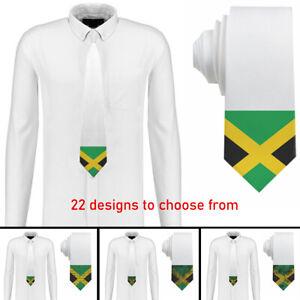 Jamaica design Mens Neck Tie Silk Polyester 22 Designs