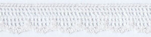 """300 Yard Spool of 5/8"""" Off-White Cotton Lace Trim  63359    FREE SHIPPING"""