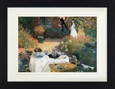 Claude Monet - Das Mittagessen 1873 Poster Plakat Gerahmt (40x30cm) #113460