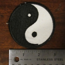 """NEW Vintage Yin Yang 3"""" Sew-On Embroidered Classic Cloth Patch NOS"""