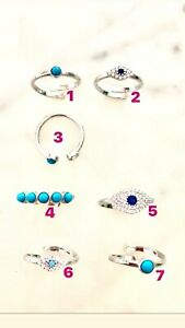 New 'Ibiza Vibes' Turquoise Rings - Sterling Silver