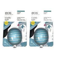 LOT OF 2 EOS Visibly Soft Lip Balm Sphere, Vanilla Mint, 0.25 oz