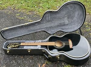 1997 Guild JF30-12 String Acoustic/Electric Jumbo Guitar W/OHSC Black