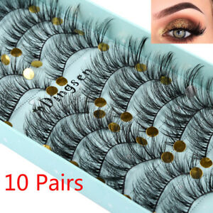 Handmade Fluffy False Eyelashes Crisscross Extension Tools 3D Faux Mink Hair