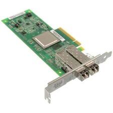QLOGIC QLE2562 PCI-E 8GB Dual Fibre HBA Host Bus Adapter + 2x SFP NOT OEM