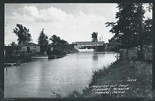MI Tawas RPPC 1950's MOUTH of the TAWAS RIVER & Bridge by L.L. Cook No. N975
