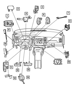 OEM NEW 1998-02 Mopar Dodge Ram 1500 2500 3500 Overdrive Lockout Switch 56021048