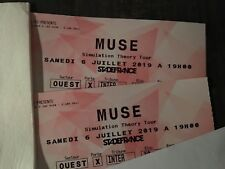 2 billets Cat.1 Concert MUSE Paris SDF 6 juillet 2019
