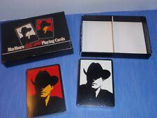 MARLBORO Playing Cards WILD WEST White RED 1991 2 Deck POKER Cowboy  NEW