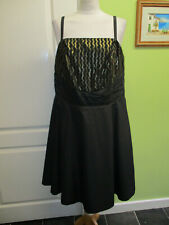 SIZE 18 LADIES SPECIAL OCCASION BLACK & GOLD SATIN DRESS BY SO FABULOUS