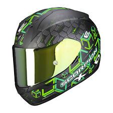 Casque intégral moto Scorpion EXO-390 CUBE Noir mat-Vert NEW 2021