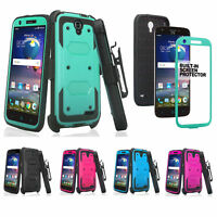 ZTE ZMAX Grand, ZMAX Champ, Avid 916 Case, Holster Clip Screen Protector Cover