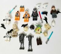 Lego Star Wars Lot Minifigs Rebel Pilot Yoda Droid Trooper Weapons Parts Pieces