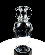 """TURNER BROTHERS & CO DEPRESSION ERA CLEAR GLASS DOUBLE HANDLE 8 3/4"""" BOTTLE 1920"""
