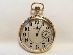 Vintage 1908 Waltham Pocket Watch- 16s, 21j, model 1899, 3 o'clock seconds dial