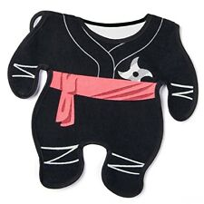 Baby Ninja karate star belt black bib - New