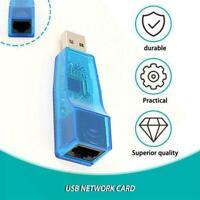 blue USB 2.0 To LAN RJ45 Ethernet Network Card Adapter 10/100Mbps best ne N7Z8