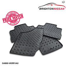 New Genuine Nissan Navara D22 Rubber Floor Mats Set of 4 G4900-VKRR1AU/VKFR1AU