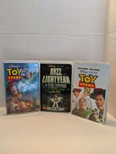 Toy story, Toy Story 2, Buzz Lightyear 3 Vhs lot set. Clamshell case.