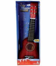 Simba My Music World Red Wooden Toy Guitar ~New~