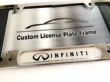License Plate Frame for INFINITI Chrome G35 G37 Q45 Q50 Q60 Q70 QX30 QX60 QX80