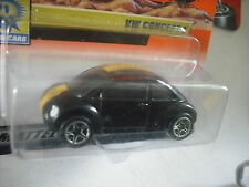 1999 MATCHBOX VW VOLKSWAGEN CONCEPT 1 BEETLE BLACK with YELLOW STRIPE  # 42 MOC