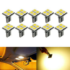 10x T10 W5W 4SMD LED Car Side Wedge Light Canbus Dome Reading Bulb Warm White