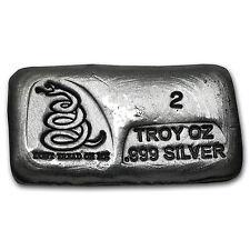 2 oz Silver Bar - Don't Tread On Me (PG&G) - SKU #101744