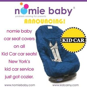 NEW NWT Nomie Baby Toddler Car Seat Cover Quilt Slip-on & Leak Proof, Navy BLUE