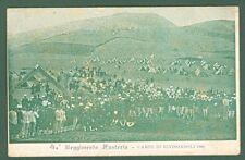 ABRUZZO. RIVISONDOLI, Aquila. 4° Reggimento Fanteria. Campo di Rivisondoli 1903.